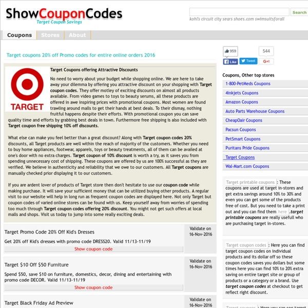 Target coupons 20% off