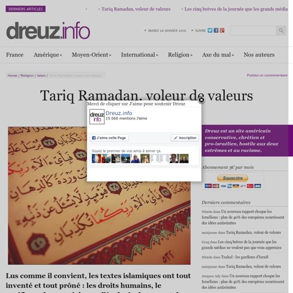 Tariq Ramadan, voleur de valeurs