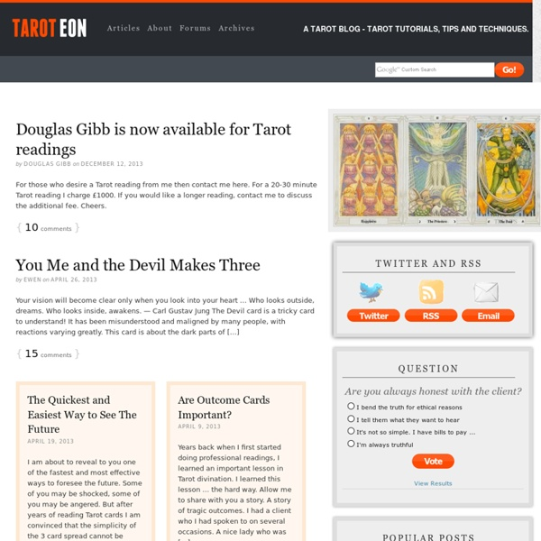 A Tarot Blog – tarot tutorials, tips and techniques. — Tarot Eon