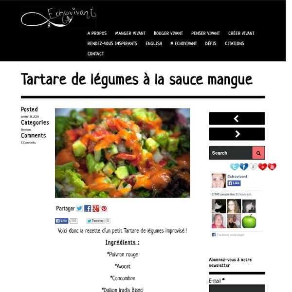 Tartare de légumes à la sauce mangue