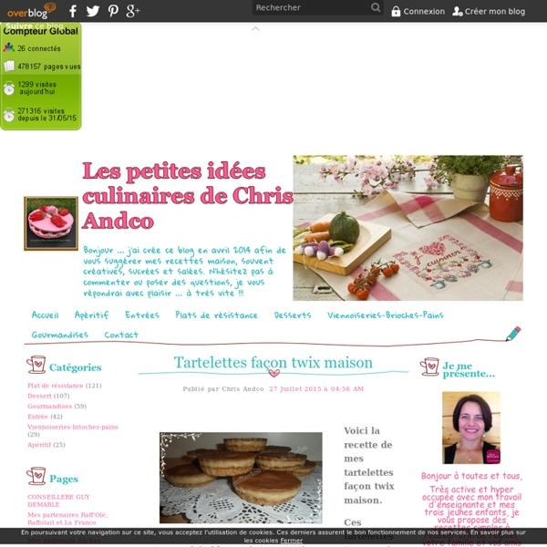 Tartelettes façon twix maison - Les petites idées culinaires de Chris Andco
