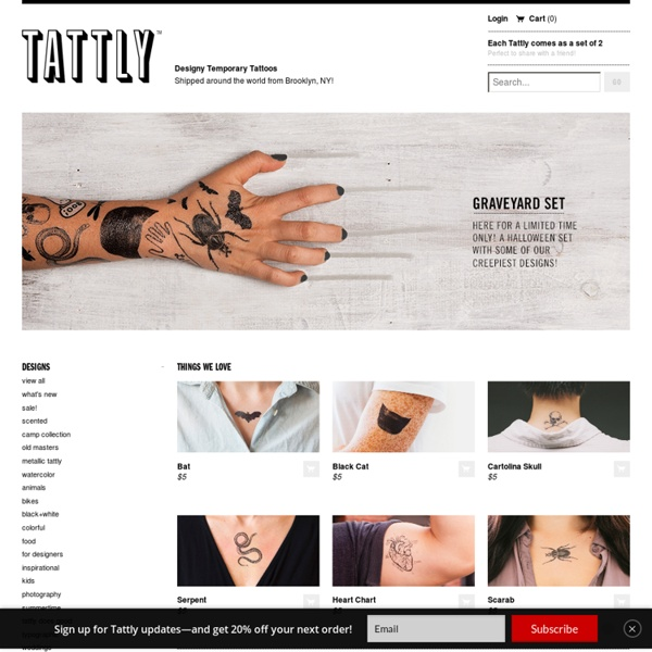 Tattly™ Designy Temporary Tattoos — Welcome