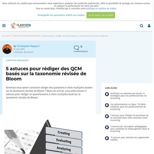 5 astuces pour rédiger des QCM basés sur la taxonomie révisée de Bloom - eLearning Industry