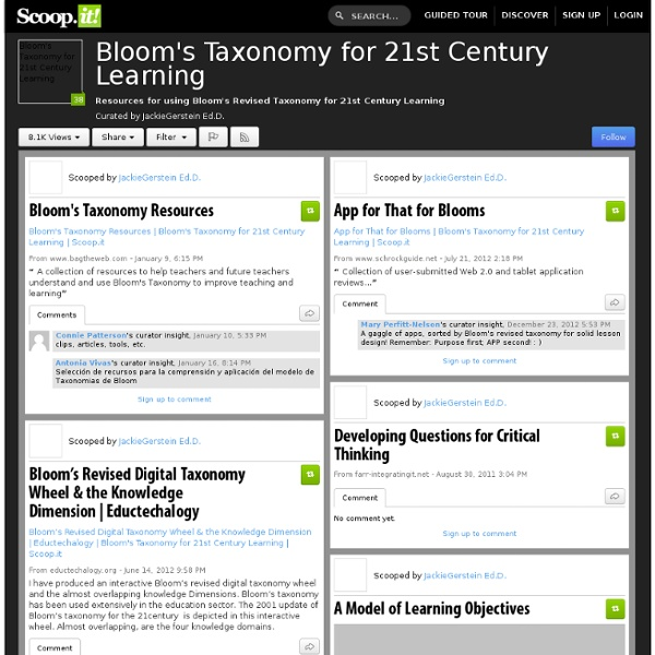 Bloom's Taxonomy for 21st Century Learning