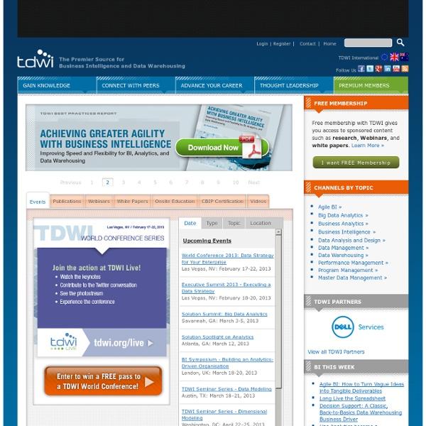 TDWI -The Data Warehousing Institute