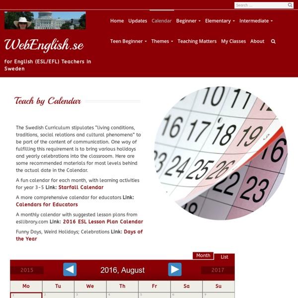 Teach by Calendar
