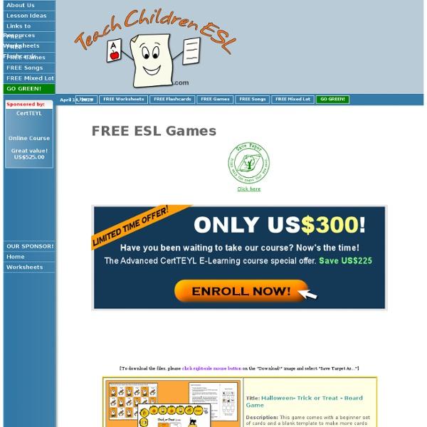 Teach Children ESL - Games