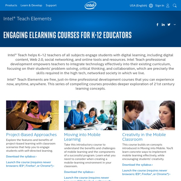 Teach Elements Online Professional Development Courses