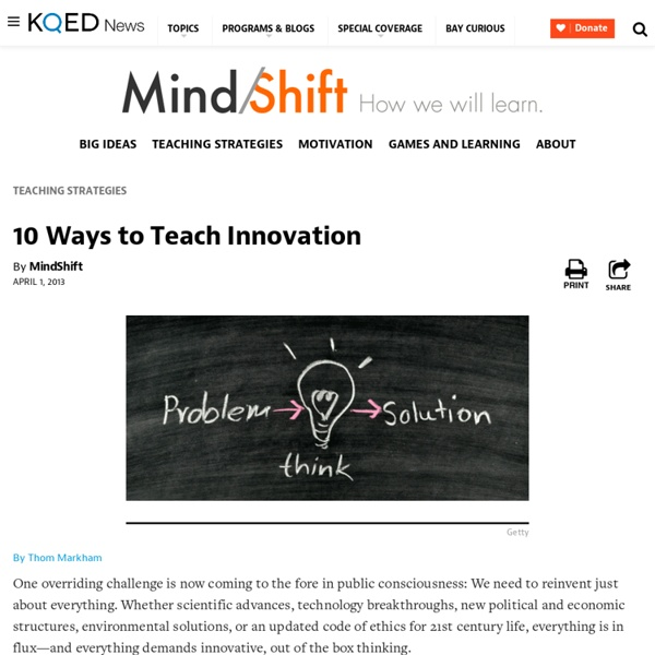 10 Ways to Teach Innovation