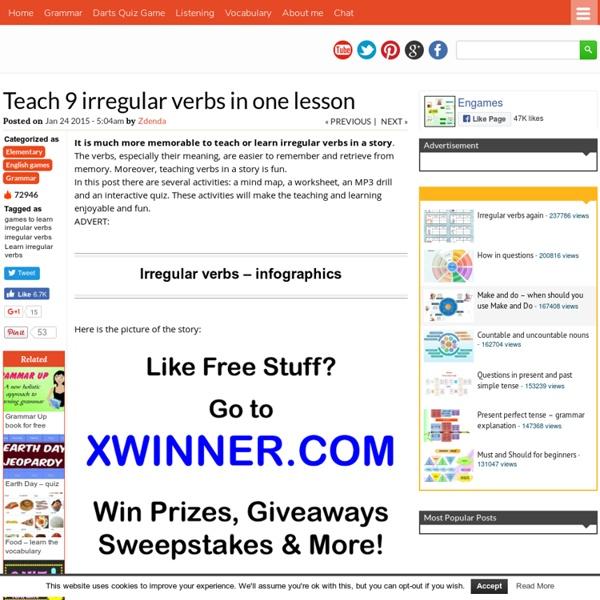 Teach 9 irregular verbs in one lesson