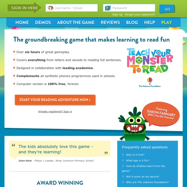 Teach Your Monster to Read - Free Phonics Games for Kids