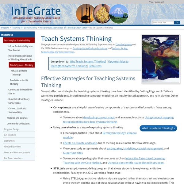 Teach Systems Thinking