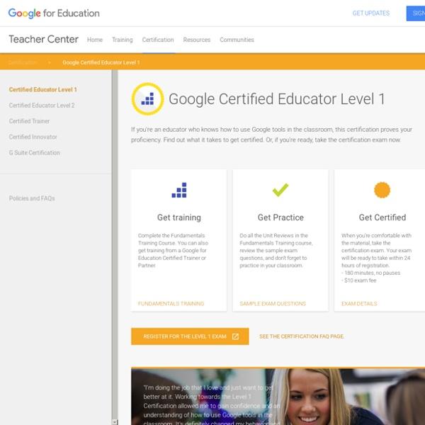 Teacher Center: Certified Educator Level 1