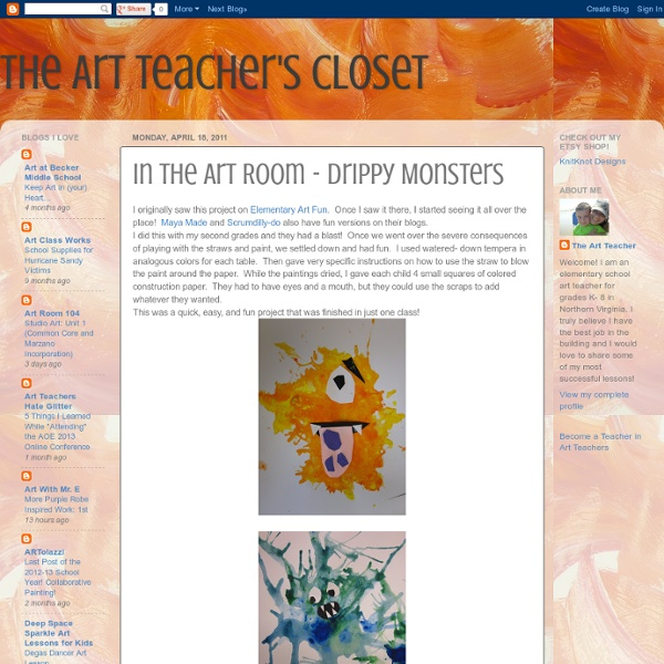 In the Art Room - Drippy Monsters