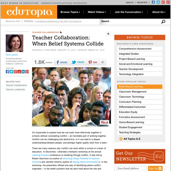 Teacher Collaboration: When Belief Systems Collide