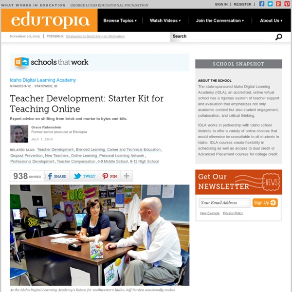 Teacher Development: Starter Kit for Teaching Online