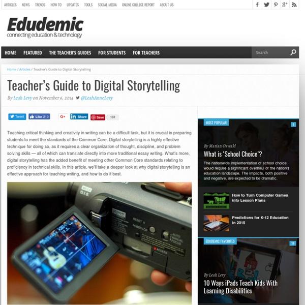 Teacher's Guide to Digital Storytelling