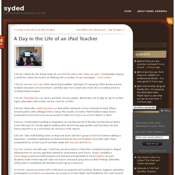 A Day in the Life of an iPad Teacher