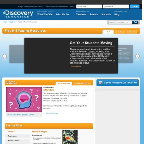 Free K-5 Teacher Resources