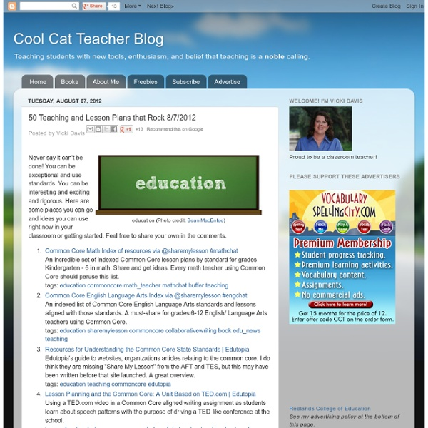 50 Teaching and Lesson Plans that Rock 8/7
