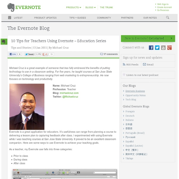 10 Tips for Teachers Using Evernote – Education Series