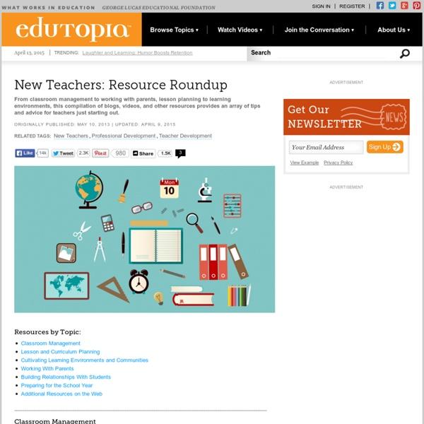 New Teachers: Resource Roundup