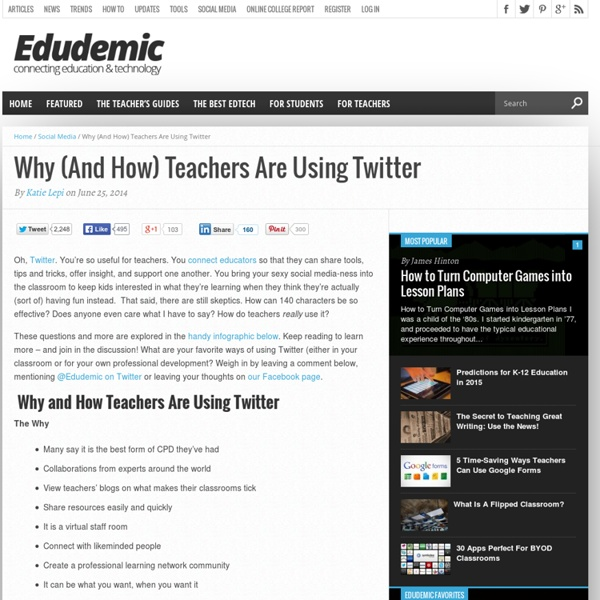 Why (And How) Teachers Are Using Twitter