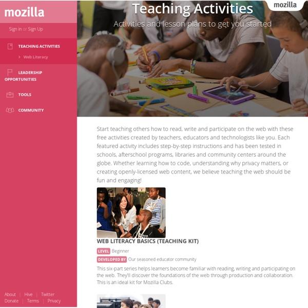 Teaching Activities - Mozilla Learning