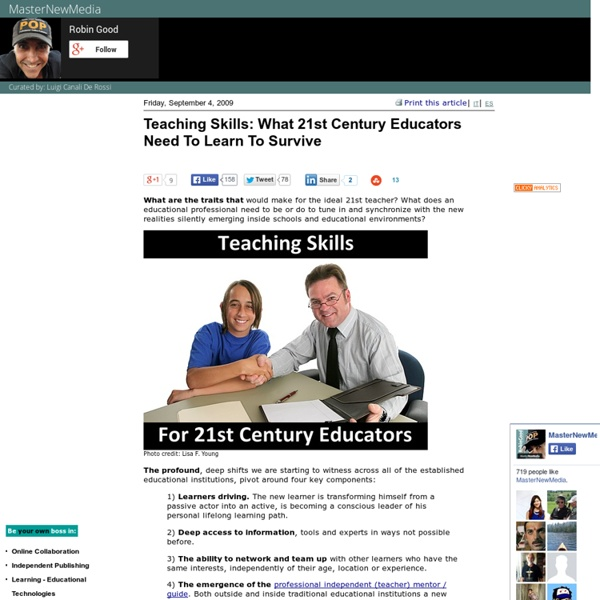 Teaching Skills: What 21st Century Educators Need To Learn To Survive