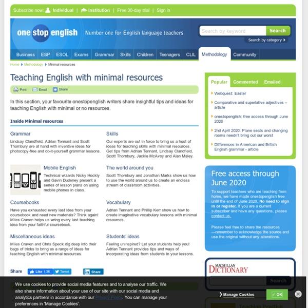 Teaching English with minimal resources