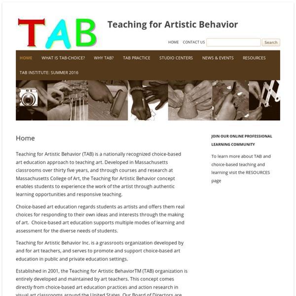 Teaching for Artistic Behavior