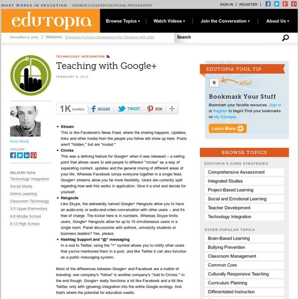 Teaching with Google+