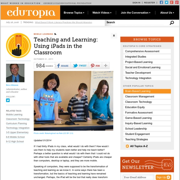 Teaching and Learning: Using iPads in the Classroom