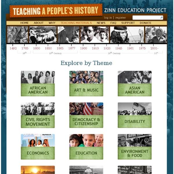 » Teaching Materials Zinn Education Project