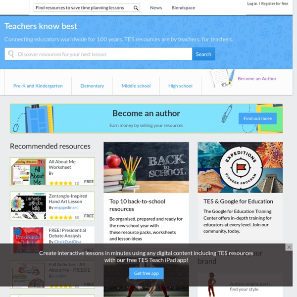 TES - Find and sell teaching resources