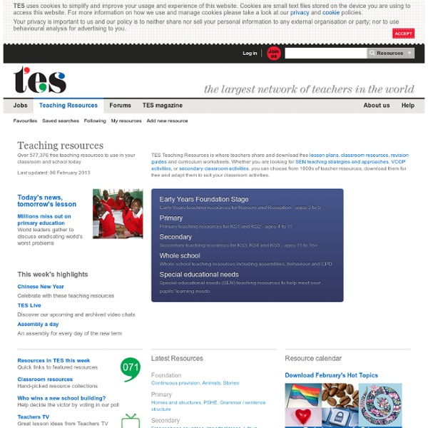 Teaching Resources, Classroom Resources & Lesson Plans - TES Resources