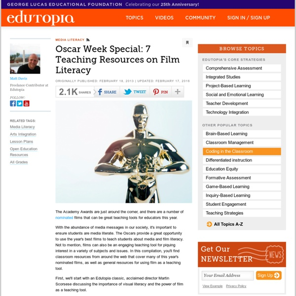 Oscar Week Special: Seven Teaching Resources on Film Literacy