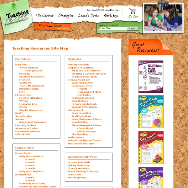 Teaching Resources Site Map