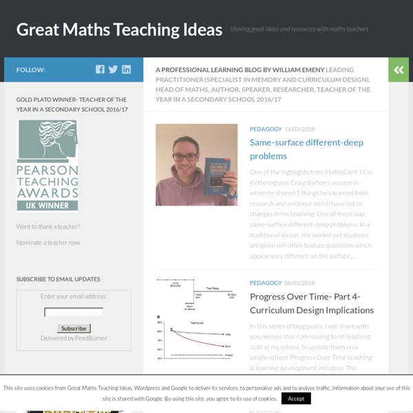 Sharing great ideas and resources with maths teachers around the world