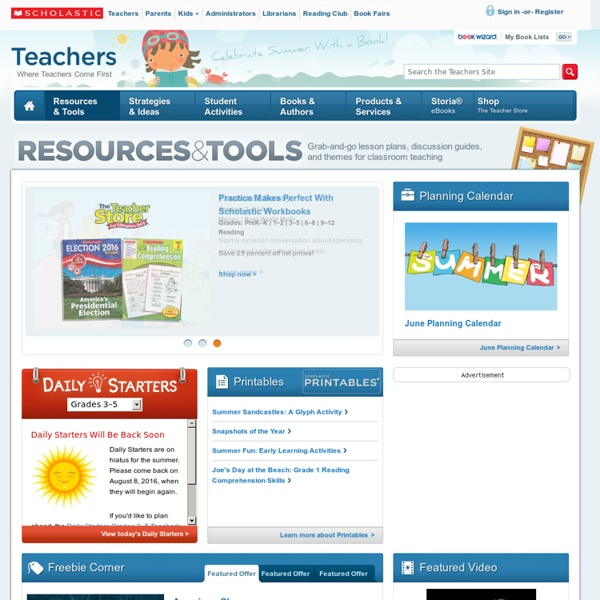 Teacher Ideas, Teaching Resources, and Lessons for PreK-12 Teachers