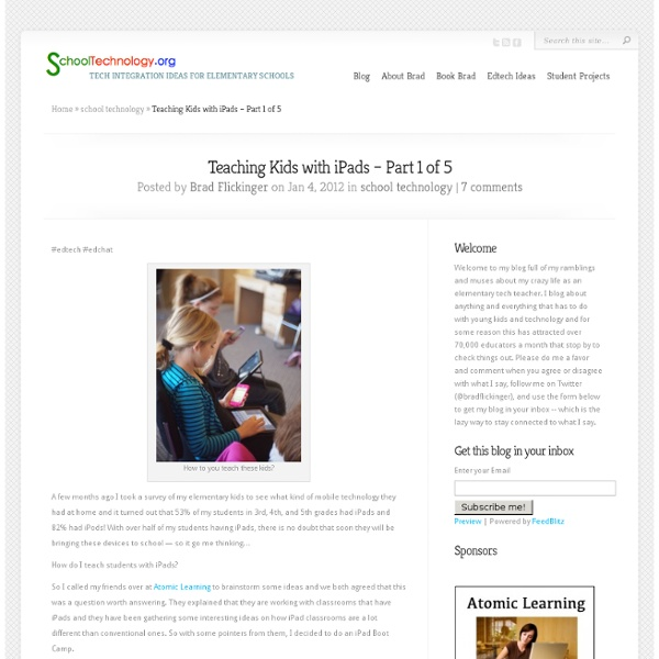 Teaching Kids with iPads – Part 1 of 5