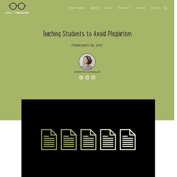 Teaching Students to Avoid Plagiarism