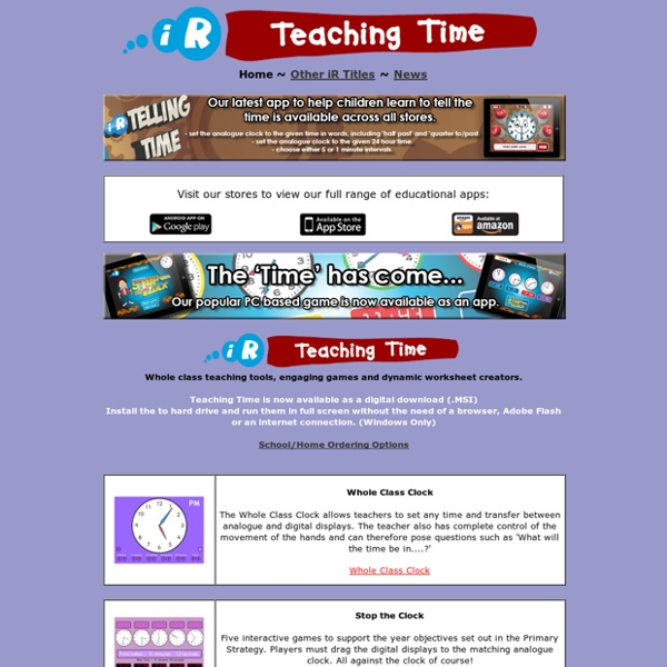 Teaching Time - Telling the time made fun!