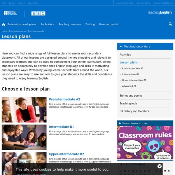 BBC lessons plans