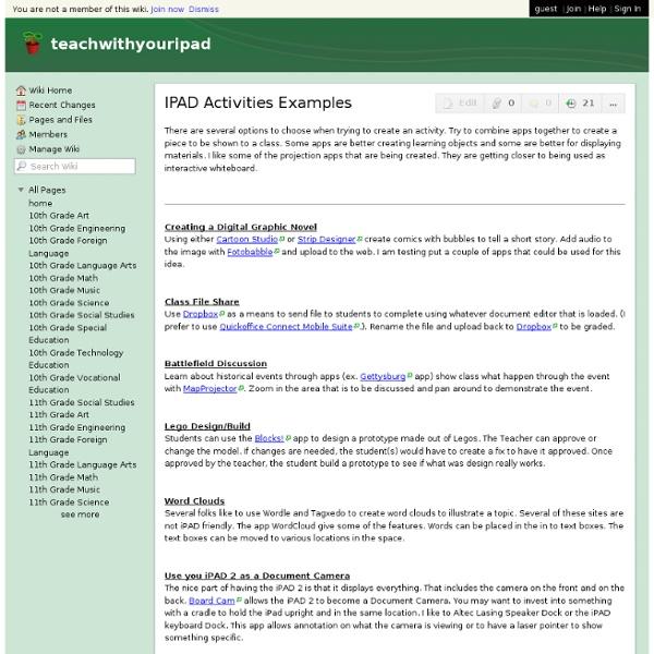IPAD Activities Examples