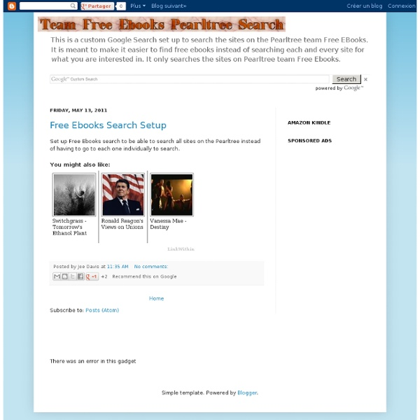 Free Ebooks Pearltree Search
