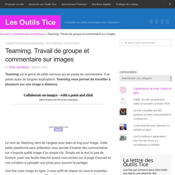Teamimg. Travail de groupe et commentaire sur images