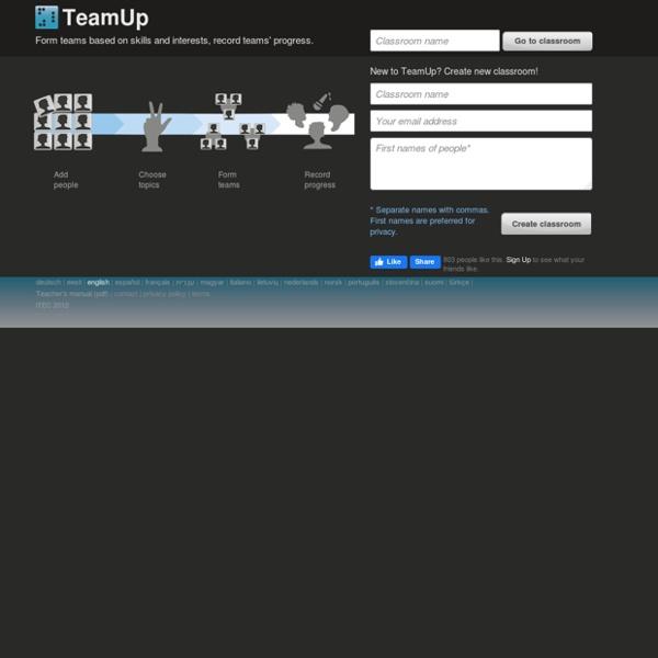 Plan de classe, gestion de classe : TeamUp - Aalto