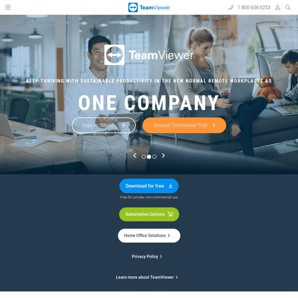 TeamViewer - Free Remote Control, Remote Access & Online Meetings