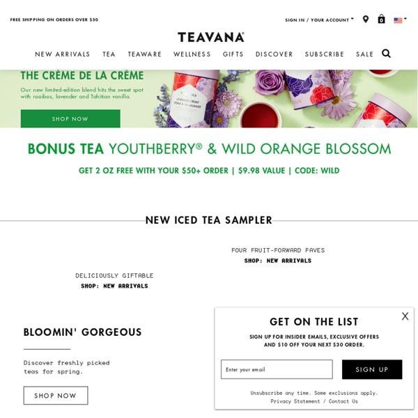 Buy Tea Online: Green tea, Oolong tea, Black tea, White tea, Herbal tea and more!